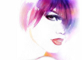 woman. abstract watercolor .fashion illustration