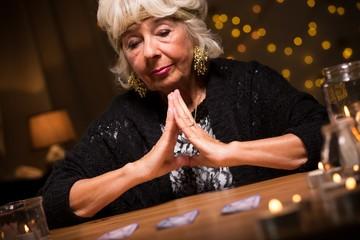 Fortune teller having a vision
