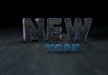 New York City, Text, 3D Typography