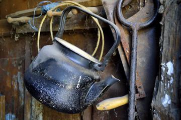 old dusty kettle