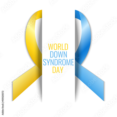 World Down Syndrome Day Down Syndrome Awareness Symbol Blue And