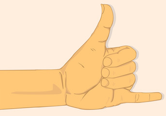 Call me hand sign. vector and illustration design
