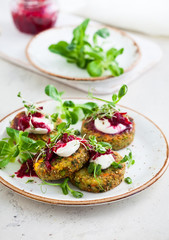 Fritters with quinoa