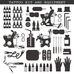Tattoo kit and equipment.