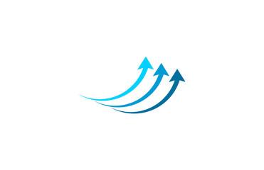 arrow up business logo
