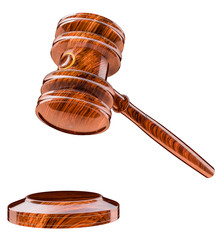 Judges gavel, auctioneers wooden hammer