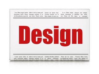 Advertising concept: newspaper headline Design