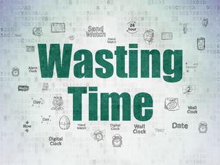 Timeline concept: Wasting Time on Digital Paper background