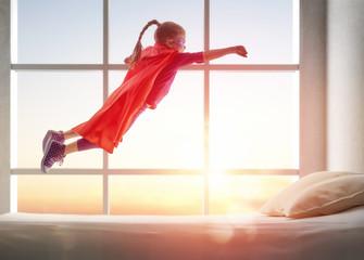 girl in Superhero's costume