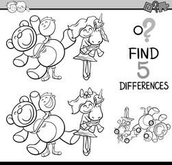 find differences coloring book