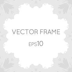 Vector square flower frame for text, images, monograms, photo frames.
