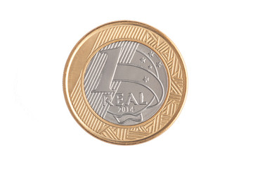 "Brazilian ""1 Real"" coin"