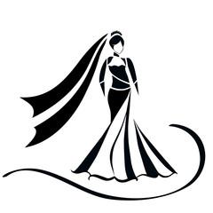 Fashion model icon.