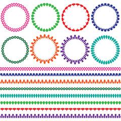 circle frames and borders