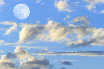 Wall Mural - Moon Clouds