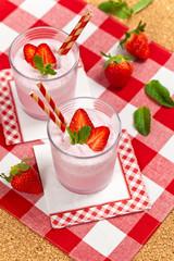 Strawberry Smoothie. Selective focus.