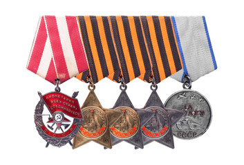 USSR Soviet military awards. Order of the Red Banner, Glory, Med