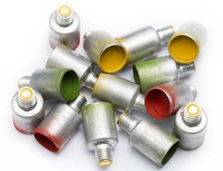 Color alarm cartridges for the flare gun