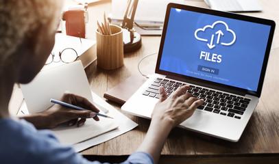 Files Documents Digital Assets Online Website Concept