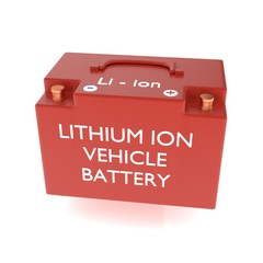 Lithium ion vehicle battery