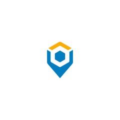 pin location vector logo