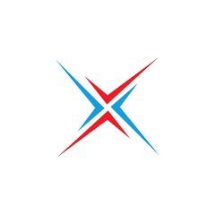 letter X shape vector logo
