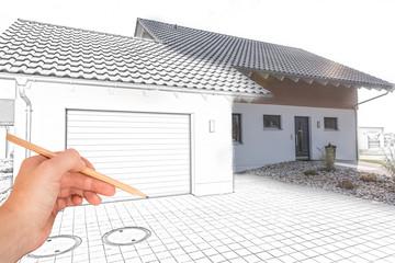 Entwurf eines Garagen-Anbaus