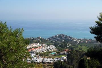 Benalmadena town and coastline, Spain.