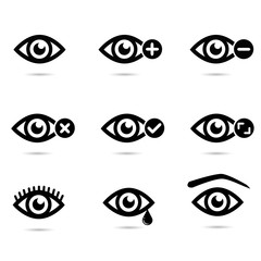 Eye collection vector icon.