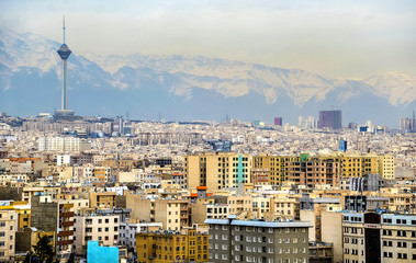 View of Tehran from the Azadi Tower
