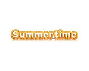 summertime 3d word