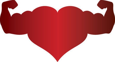 Graphic of red heart