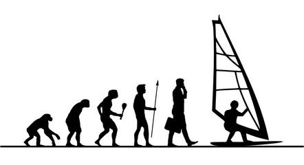 Evolution Surfen Surfbrett Menschen