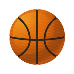 Vector illustration. Basketball isolated on a white background