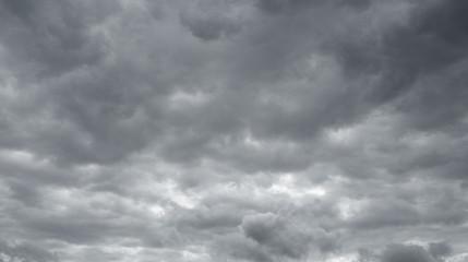 Storm sky, rain. Thunderclouds over horizon.