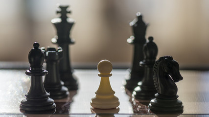 chess game chessboard battle win king victory