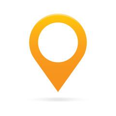 orange map pointer icon marker GPS location flag symbol