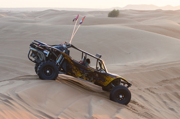 Dune buggy in the sands-