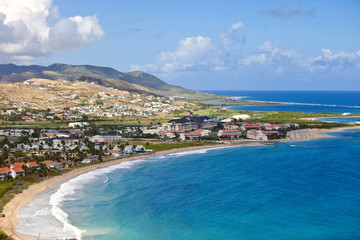 Wall Murals Caribbean aerial view of resort in st kitts in the Caribbean