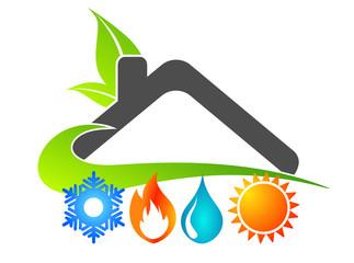 Photos illustrations et vid os de logo maison for Maison a energie renouvelable