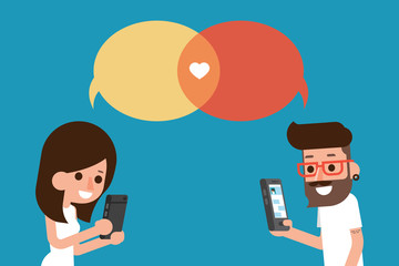 mobile massege chat bubble
