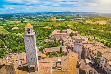 Fototapete - Medieval town of San Gimignano, Tuscany, Italy