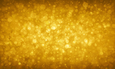 gold glitter background sparkles, elegant golden bokeh lights background, small circles shapes floating in air, magical sparkle background design