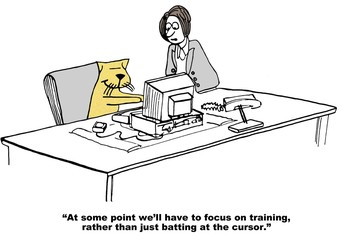 Business cartoon about training.
