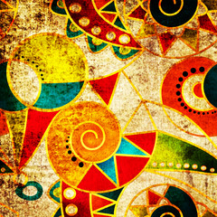 Abstract tribal ethnic geometrical pattern bright background