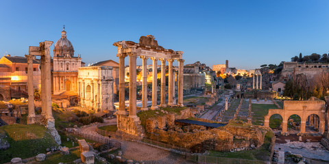 Photo sur Aluminium Rome Roman Forum in Rome