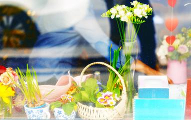 showcase of flower boutique
