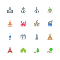 Cultural buildings icons