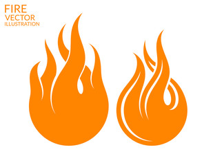 Fire. Icon set