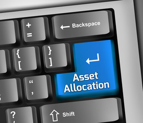 Keyboard Illustration Asset Allocation